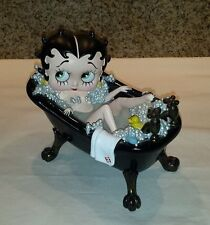 Extremely Rare! Betty Boop in Black Bath Tub Statue figurine