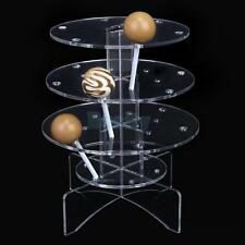 Acrylic 3-Tier Cake Pop Lollipop Cupcake Display Stand Holder Tower 18 Holes