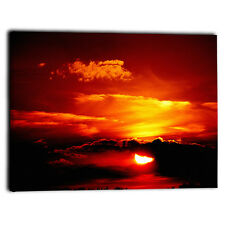 """Large Sunset Sky Canvas Framed Prints Picture Abstract Wall Art Panel 20"""" x 30"""""""