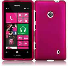 For Nokia Lumia 521 Rubberized HARD Case Snap On Phone Cover Accessory Rose Pink