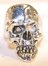 DELUXE DEATH SKULL NEW SILVER BIKER RING BR25AR mens fashion jewelry mummy scull