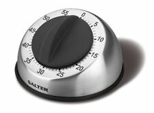 SALTER 60 MINUTE TIMER 338 MECHANICAL STAINLESS STEEL EASY GRIP SOFT TOUCH DIAL