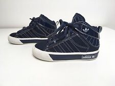Toddler Boy Adidas High top Trainers Shoes Size 5 K Uk Blue