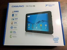 "DigiLand 7"" Tablet 16GB DL721-RB Quad Core GPS Dual Cameras Android 6.0"