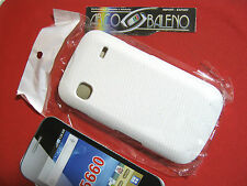 COVER CUSTODIA per SAMSUNG GALAXY GIO' GT S5660 BIANCO RIGIDA SLIM HARD CASE