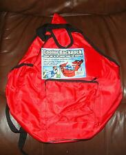 Red Insulated Cooler Backpack Holds 18 Cans