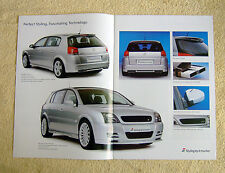Vauxhall Signum Irmscher Brochure, November 2003