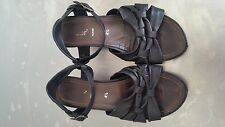 Gabor Leather Black Wedges Size 37.5 / UK 4.5