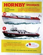 1963 HORNBY Speed Boats ADVERT Motor & RAF Safety Launch #1 - Original Print AD