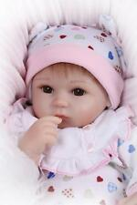 "Reborn Baby Doll Lifelike 18"" Soft Vinyl Real Looking Newborn Baby Girl Dolls"
