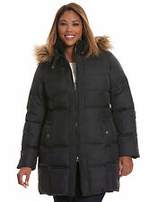 NEW LANE BRYANT PLUS SIZE BLACK QUILTED PUFFER COAT SZ 18/20
