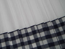 Blue White Check Gingham VW CAMPERVAN Caravan Curtains T2 T4 T5 T25 Fully Lined