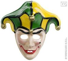 Court Jester Medieval Joker Face Mask Clown Halloween Fancy Dress