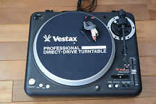Vestax PDX2000 Pro Turntable rare black color Heavy-duty A.S.T.S. w/ cartridge
