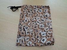 Scrabble tile letter spare bag - Scrabble fabric - gift for Scrabble fans!