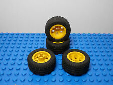LEGO  Set of 4 NEW Yellow Wheel 30.4 x 14 VR and Black Tire 30.4 x 14 VR Balloon
