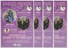 Disco Fever live - Stockport Plaza - Concert FLYERS x 4 (Odyssey/The Real Thing)