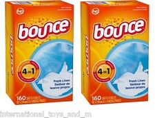 Bounce bounce dryer sheets fabric softener 320 Sheets (2 x 160)