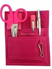 Nurse Pocket Pink Organizer 4pc Kit - w/ Scissor LED Pen Light & Chart Pen