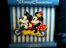"MICKEY AND MINNIE MOUSE ON A BICYCLE FOR 2 MAGNET 1.5""  Sekiguchi Japan Market"