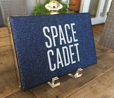 "KATE SPADE NEW YORK ""OVER THE MOON JETT"" SPACE CADET NIGHT SKY CLUTCH BAG, NWT"