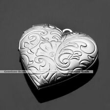 Flower Heart Friendship Lover Photo Picture Frame Locket Pendant for Necklace