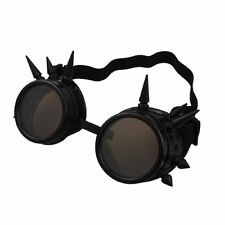 Black + Brown Lenses Steampunk Spike style cosplay adults fashion goggle glasses