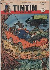 TINTIN n°144 - 26 juillet 1951 - Bel état
