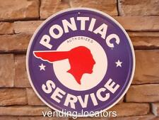 Pontiac Service Vintage Style Metal Embossed Tin Sign Plymouth Dodge Garage New