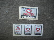 Columbus Matrix Bike Bicycle Frame & Fork Decals Not Remade!! Free Shipping!!!