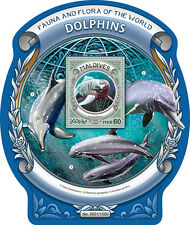 Maldives 2016 MNH Dolphins Fauna & Flora of World 1v S/S Marine Animals Stamps