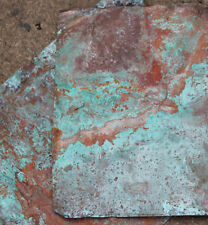 8x12in copper sheeting - wonderful aged green blue patina