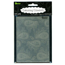 NEW Darice Paisley Background Universal Embossing Folder 1218-30