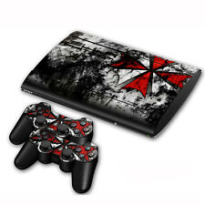 Hot Vinyl Skin Sticker Cover For PS3 PlayStation Slim 4000 +Controllers Decal#94