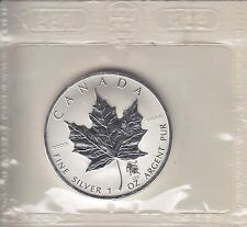 2004 Maple Leaf Leo Privy 1 oz Pure Canadian Silver Privy Mark in Cello