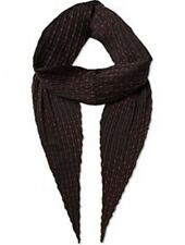 THE KOOPLES PLEATED MICROSTARS BLACK RED DESIGNER SCARF AHE801 FREE SHIPPING