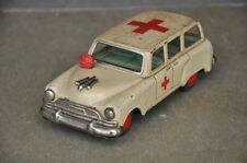 Vintage Fine White Litho 'Asahi Toy' Ambulance Tin Toy , Japan