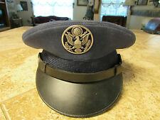 US MILITARY ARMY AIR CORP FORCE ENLISTED VISOR HAT DRESS CAP CRUSHER BLUE WOOL