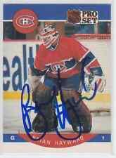 Autographed 90/91 Pro Set Brian Hayward - Canadiens