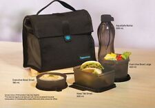 Tupperware Satchel Lunch Set - Black - With Keep Tabs And 500ml Bottle Brand New