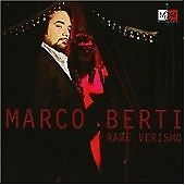 Marco Berti : Rare Verismo CD (2008)  NEW / Unplayed