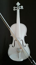 Student Acoustic Violin 4/4 Maple Spruce with Case Bow Rosin all white Color
