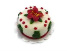 Christmas Cake Dollhouse Miniatures Food Supply Deco Holiday Season (2 cm)-1