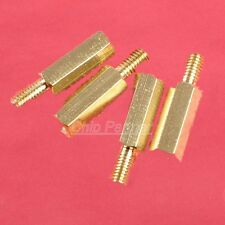 100pcs M3 Male 6mm x M3 Female 12mm Brass Standoff Spacer M3 12+6