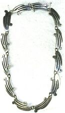 VTG MEXICAN TAXCO MEXICO A MUNOZ STERLING SILVER 14 INCH CHOKER NECKLACE