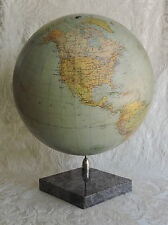 Antico Mappamondo Tell Globe, Svizzera 1945, diametro 35 cm Antique Globe