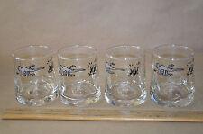 Set Of 4 Vintage Wizard Juice Glasses Tumblers Anteater & Ants Johnny Hart #1820