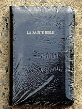 French Bible, La Sainte Bible - Louis Segond 1910 Leather, Black, Handheld f/s