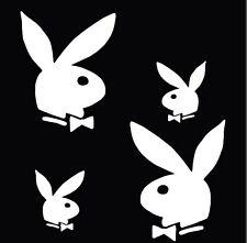 PLAY BOY STICKER VINYL DECAL VEHICLE CAR WALL LAPTOP 1 SET OF 4