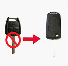 Fits Vauxhall Opel Astra Vectra Zafira 3 Button CONVERSION Flip Remote Key Fob